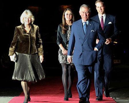 Kate Middleton and royal family