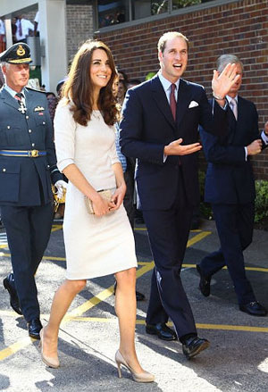 Kate Middleton with Prince William in mini