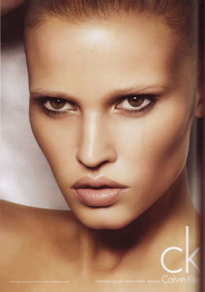 Model Lara Stone for Calvin Klein