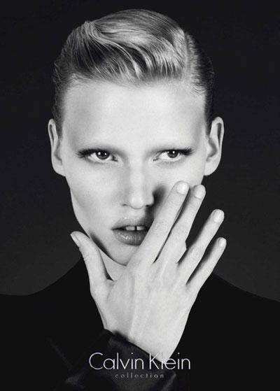 Model Lara Stone for Calvin Klein brand