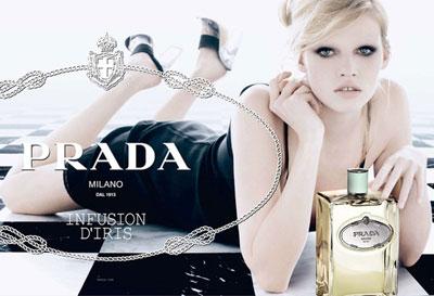 Model Lara Stone for Prada