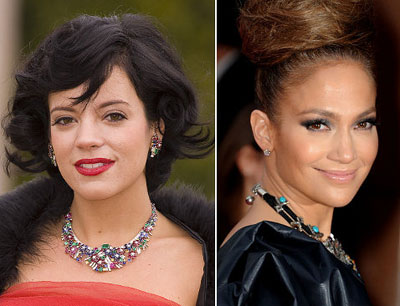 Lily Allen and Jennifer Lopez makeup