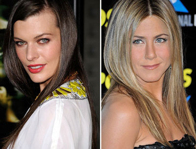 Milla Jovovich and Jennifer Aniston Makeup