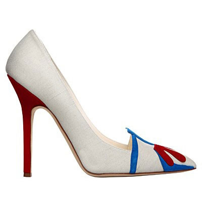 Manolo Blahnik shoes collection white color