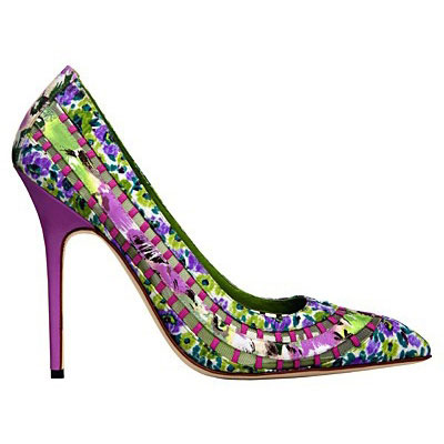 Manolo Blahnik shoes bright prints