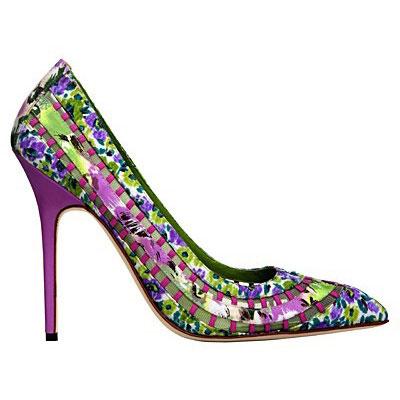 Manolo Blahnik shoes bright prints