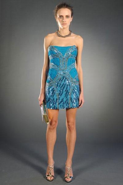 Roberto Cavalli pre-fall collection blue dress