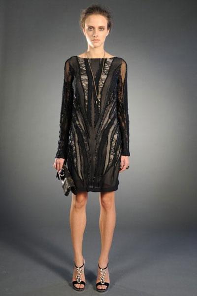 Roberto Cavalli pre-fall collection black dress