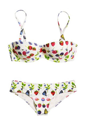 Versace for HM swimwear fruit patters