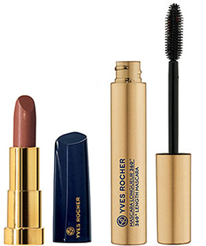 Yves Rocher Holiday Makeup Lipstick and Mascara