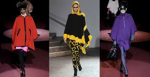 How to wear poncho with trousers