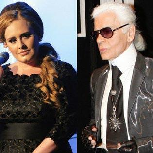 Karl Lagerfeld Finds Adele Fat