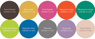 Trendy Colors For The FW By Pantone Fashion Wear - Trendy color combinations