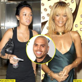 Rihanna, Karueche, Chris Brown, a Love Triangle