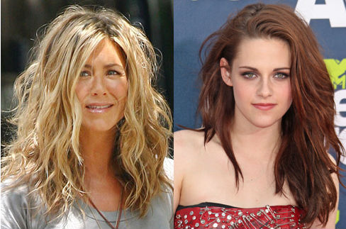 Jennifer Aniston and Kristen Stewart