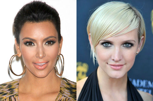 Kim Kardashian and Ashlee Simpson