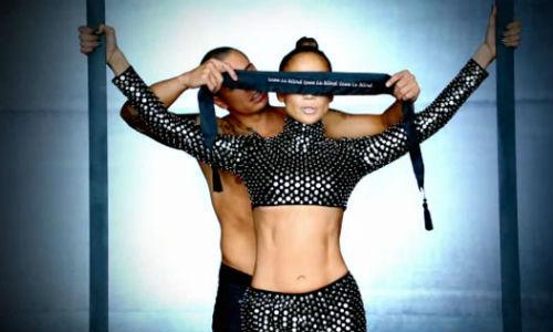 "Jennifer Lopez and Casper Smart in the New ""Dance Again"" video"