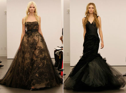Black Wedding Dresses by Vera Wang