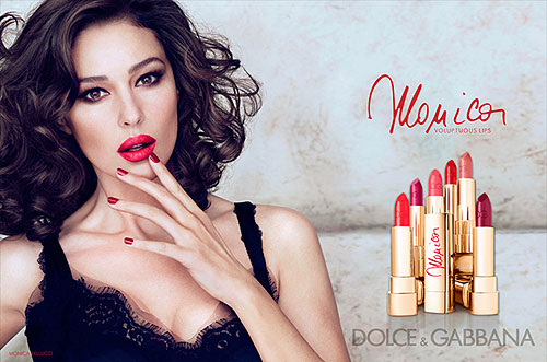 Monica Bellucci and D&G Monica Lipstick