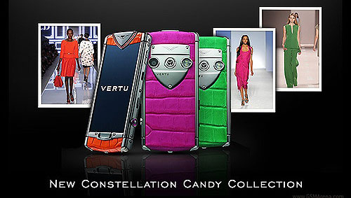 New Smartphones Vertu Constellation Candy