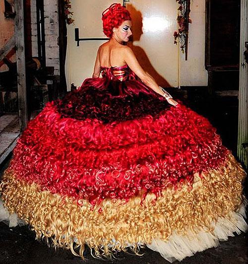 Human Hair Wedding Dress