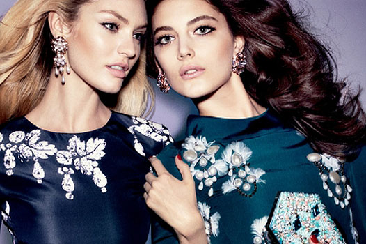 Candice Swanepoel and Katryn Kruger for Oscar de la Renta
