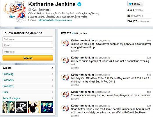 Katherine Jenkin's Twitter Messages