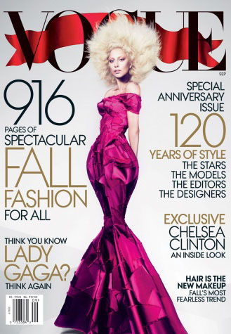 120th Anniversary: Vogue Cover featuring Lady Gaga