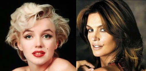 Marilyn Monroe and Cindy Crawford