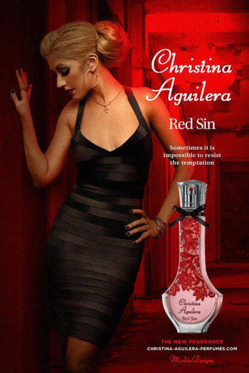 "New ""Red Sin"" Fragrance by Christina Aguilera"