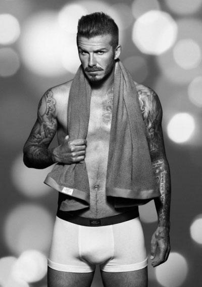 David Beckham Wears a Moustache