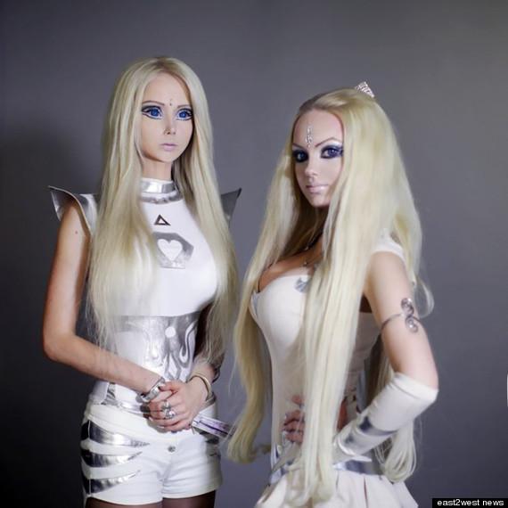 Ukrainian Living Barbie Gets a Plastic Body Double