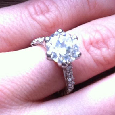 Crystal Harris Shows Her Engagement Ring
