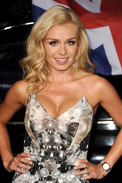 The curls of Katherine Jenkins