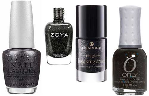 obsidian nail polishes by different beauty brands