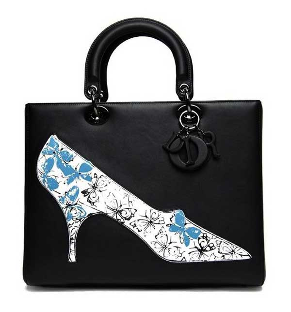 RAF Simons Customizes The Bag Lady Dior with Drawings of Andy Warhol