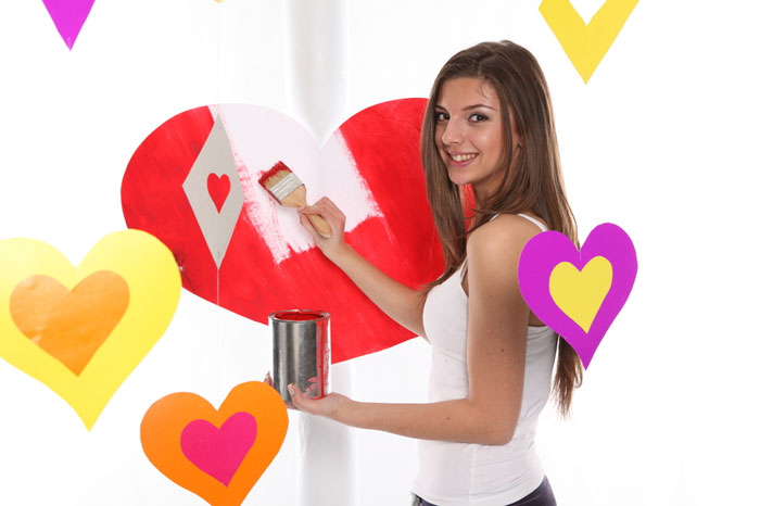 woman-love-valentines-day-paint-hobby