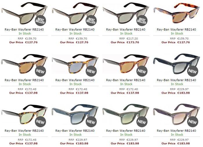Chic Ray-Ban Wayfarers RB2132 Sunglasses Review