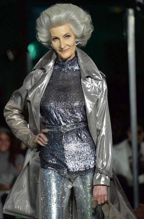 Grey hair is the latest fashion trend cosmetics geniusbeauty - Age de jean paul gaultier ...