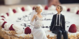 bridegroom, wedding cake