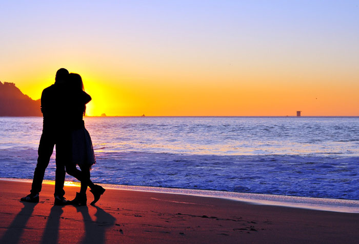 couple-love-marriage-relationship-kiss-sunset