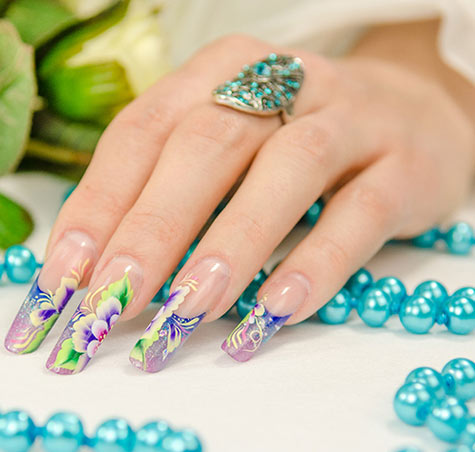 Manicure tips for fall winter 2015 beauty tips makeup guides while applying this nail design glitter sequins and various textiles are used all materials are laid inside prinsesfo Choice Image