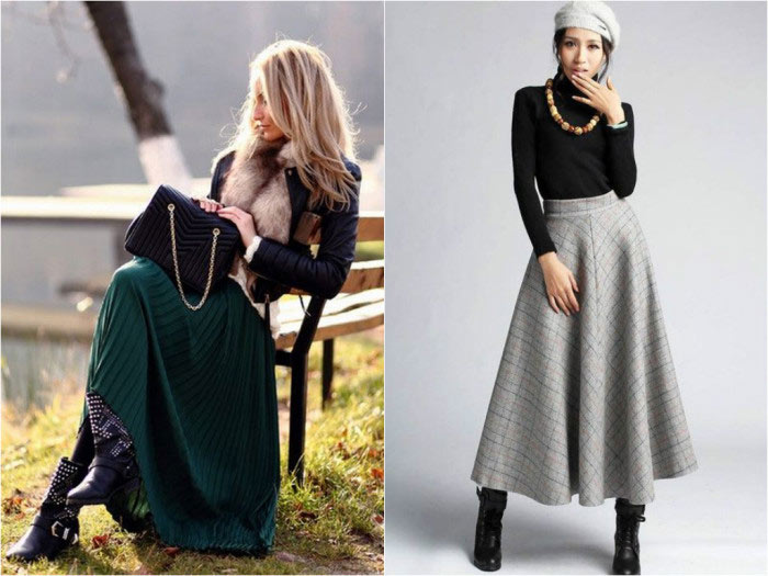 Tips for Wearing a Long Skirt in Winter | Fashion & Wear ...