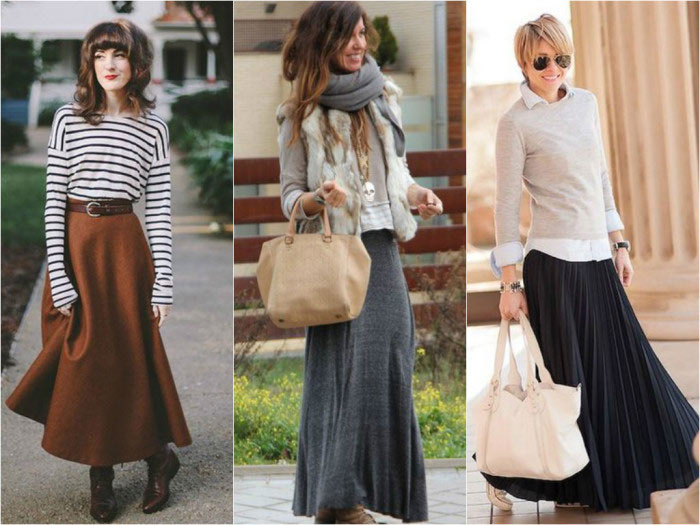 Tips for Wearing a Long Skirt in Winter