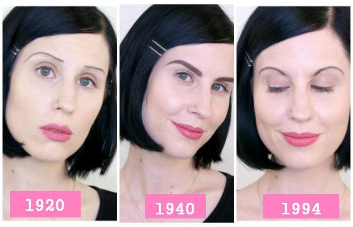 Eyebrow Shape Evolution Throughout 100 Years Cosmetics Geniusbeauty
