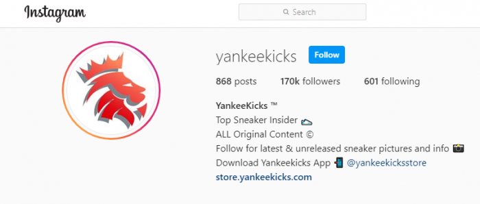 YankeeKicks – the hot name in sneaker retail today